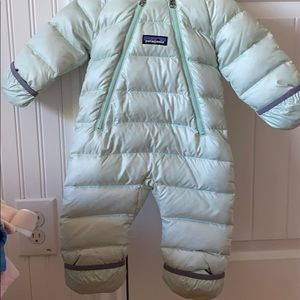 Patagonia puffer down snow suit bunting size 0-3